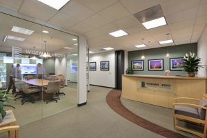 Wiseman + Rohy reception area