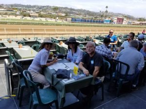 company employees at the racetrack in Del Mar
