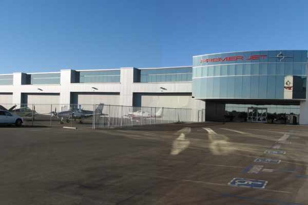 Premier Jet Airplane Hangar, Office Building & FBO, Carlsbad, California